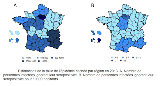 estimation incidence vih sida en france region par region
