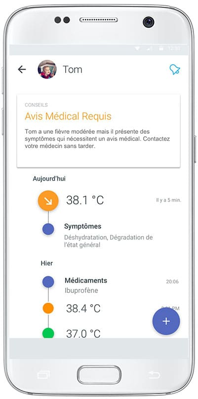 Le thermometre connecte Withings Thermo et ses fonctionnalites
