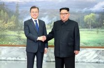 two korean president, kim jong un and moon jea in